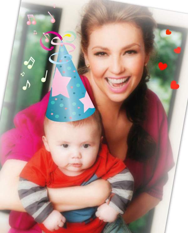 Photo of Thalia & her Son  Matthew Alejandro Mottola Sodi